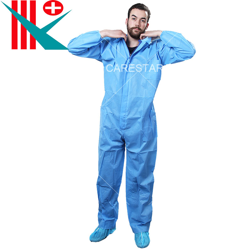 Disposable SMS Coverall with Collar