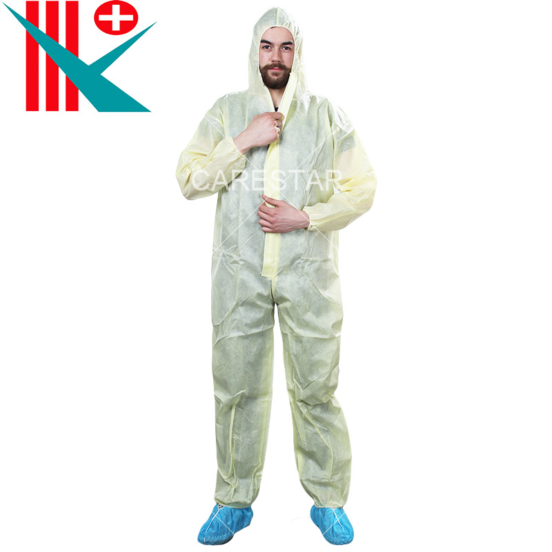 Disposable PE Coated PP Coverall, with Hood