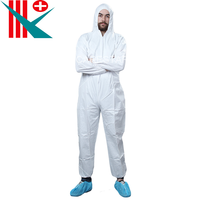 Disposable Microporous Coverall, with Hood
