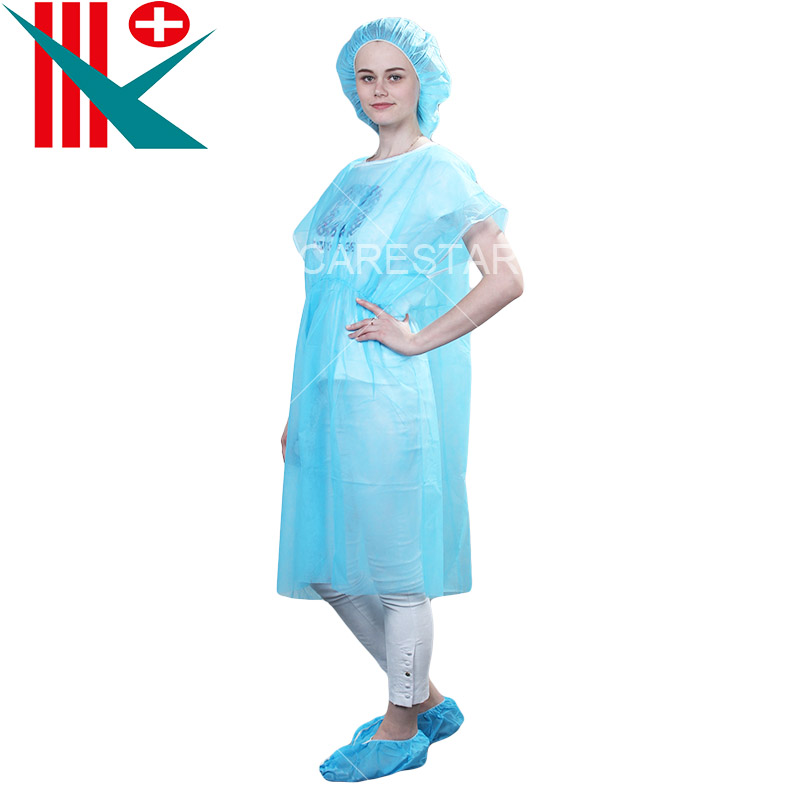 Disposable Short Sleeve PP Isolation Gown