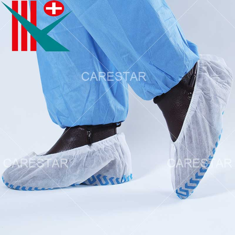 Disposable PP Non-Slip Shoe Cover, with Non-Slip Printing on The Sole, Made by Machine