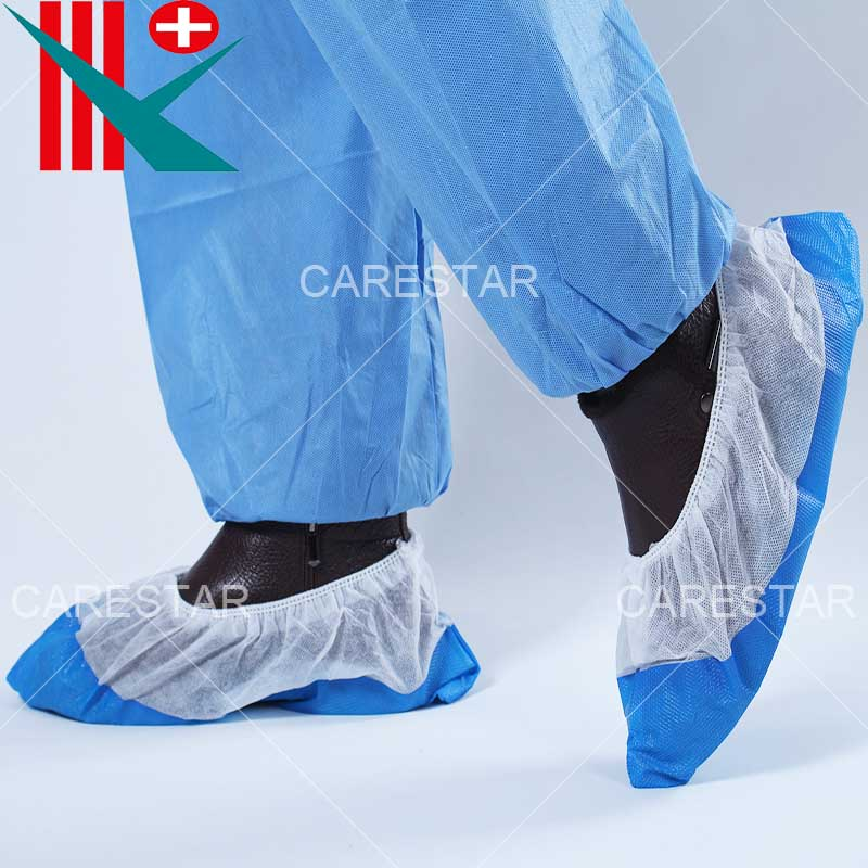 Disposable CPE Semi-Coated PP Shoe Cover