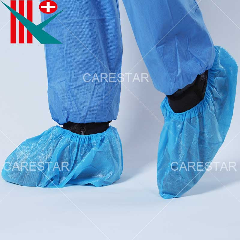 Disposable CPE Coated PP Shoe Cover, Made by Machine