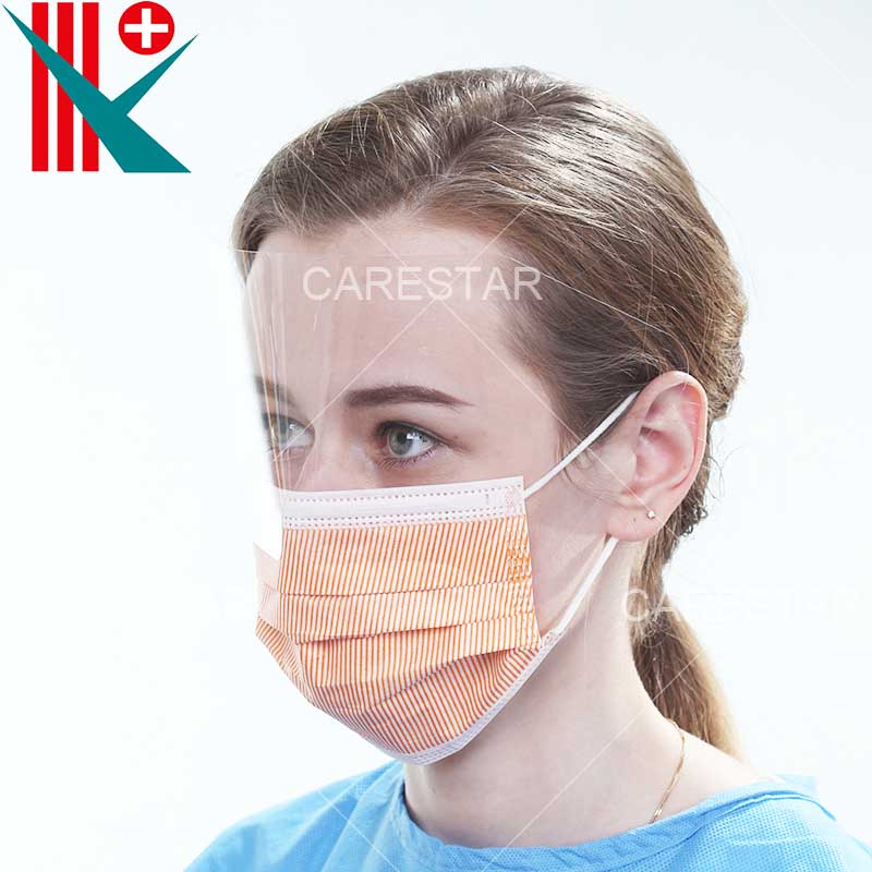 Disposable PP 4 Ply Face Mask with Anti-Fog Shield, Earloop