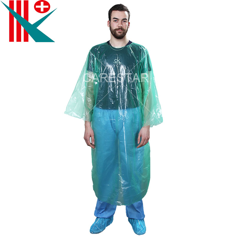 Disposable LDPE Apron / Gown with Long Sleeves