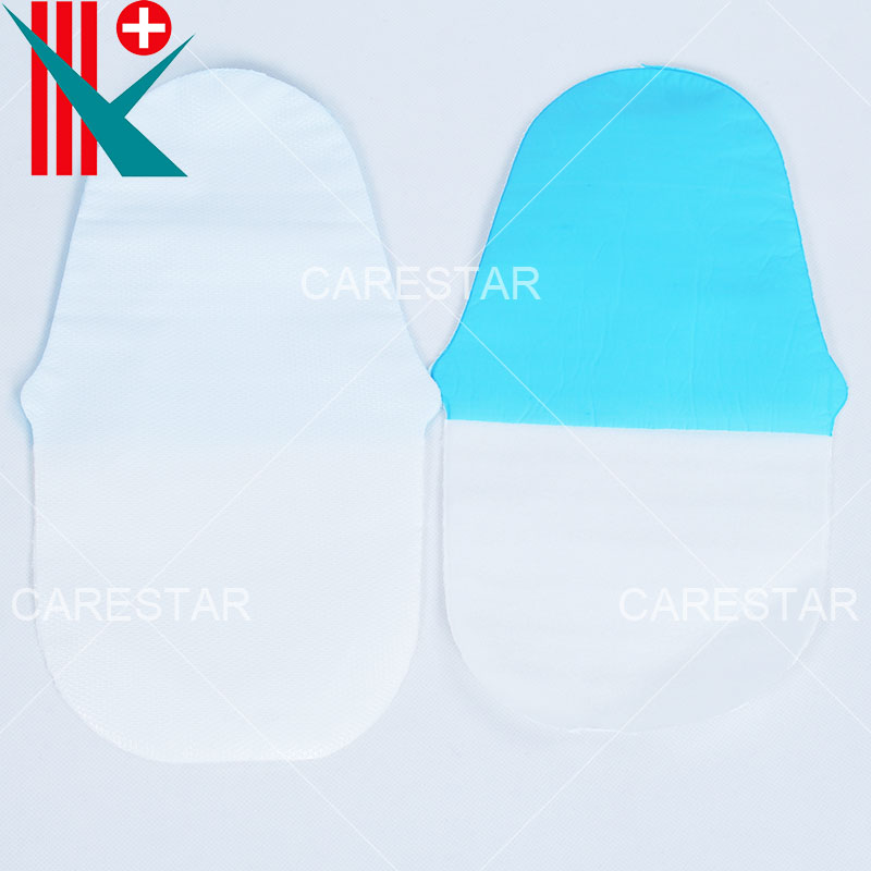 Disposable Anti-Skid CPE Coated PP Slippers, with Deep Diamond Embossing on The Sole